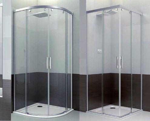 Mamparas de baño de acero y aluminio
